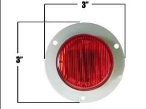 """2"""" Red Flange Mount Marker Trailer Truck Boat Light"""