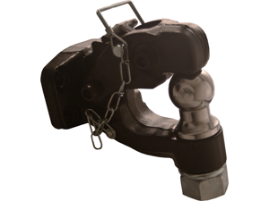 """1-7/8"""" Combination Towing Pintle Hook Ball Hitch Lock"""