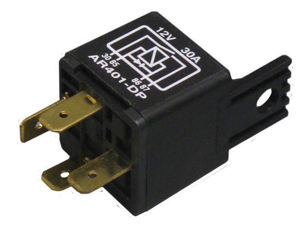 12 Volt 30 Amp Mini Relay Automotive Relay w/ 4 Prongs