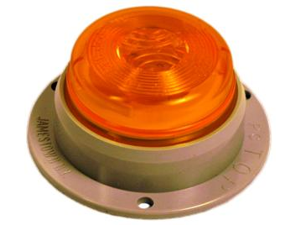 "2.5"" Surface Mount Flange Amber LED Marker Truck Light"