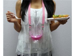 DSI The Original Drink Sling Hands Free Pink Beverage Carrier