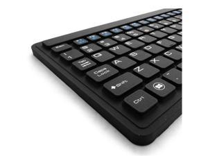 Silicone Slim Waterproof USB Full Size Keyboard Touchpad KB-107 by DSI