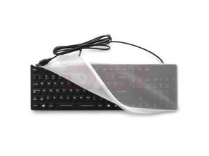 Waterproof Industrial Medical USB Keyboard with Clear Silicon Keyboard Cover - OEM