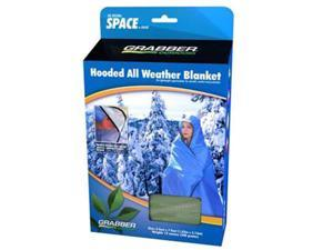 Space All Weather Hooded Blanket - Olive