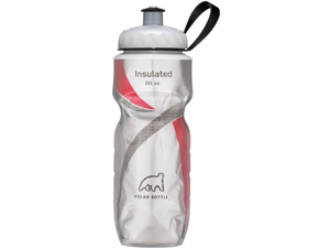 Polar Bottle Sport Insulated 20 oz Water Bottle - Red Pattern