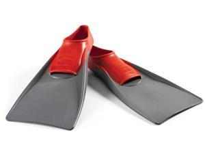 FINIS Long Floating Fins - Large (7.5-9) - Red/Gray