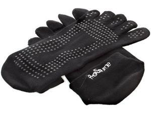 ProSource Yoga Socks Full Toe with Grips - S/M - Black
