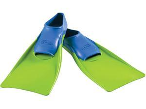 FINIS Long Floating Fins - XXXS (Jr. 8-11) - Blue/Lime Green