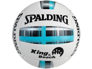 Spalding King of the Beach Plaid Series Volleyball - Blue Plaid