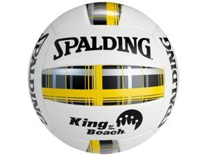 Spalding King of the Beach Plaid Series Volleyball - Gold Plaid