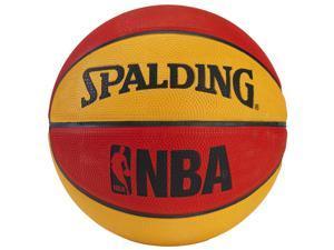 Spalding NBA Mini Basketball - Red/Orange