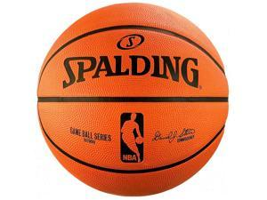 "Spalding NBA Rubber Replica Outdoor Basketball - Size 5 (27.5"")"