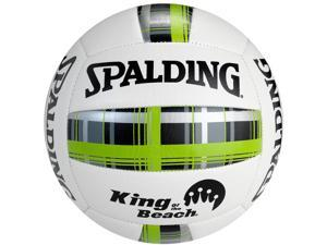 Spalding King of the Beach Plaid Series Volleyball - Green Plaid