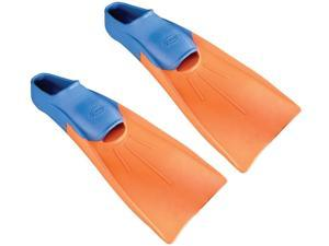 FINIS Long Floating Fins - XXS (Jr. 11.5-1) - Blue/Orange
