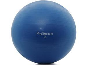 ProSource Swiss Exercise Ball with Pump - 55 cm - Blue