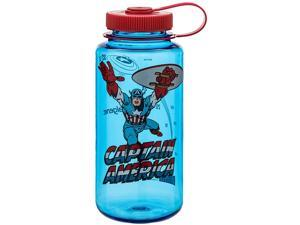 Nalgene Marvel Tritan Wide Mouth Water Bottle - 32 oz.-Captain America In Action