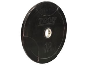Troy Barbell 10 lb. Interlocking Olympic Rubber Bumper Plate