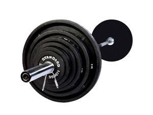 USA Sports by Troy Barbell 300 lb. Olympic Weight Set with Chrome Bar