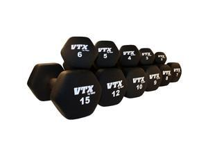 VTX by Troy Barbell Neoprene 1-15 lb. Dumbbell Set