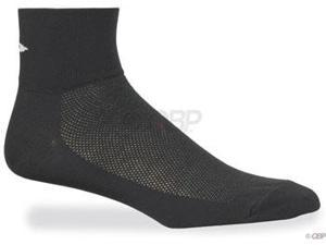 "DeFeet AirEator ""D"" Logo Sock: Black&#59; MD"