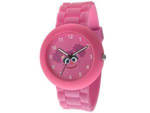 Sesame Street SW612AB Abby Cadabby Pink Rubber Watch