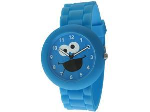 Sesame Street SW612CM Cookie Monster Blue Rubber Watch