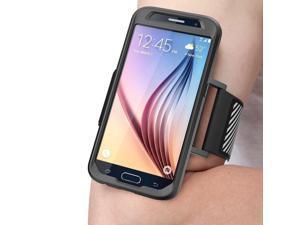 i-Blason (B00TU9P73M) Galaxy S6 Armband, SUPCASE Easy Fitting Sport Running Armband with Premium Flexible Case Combo for Samsung Galaxy S6 (Black)