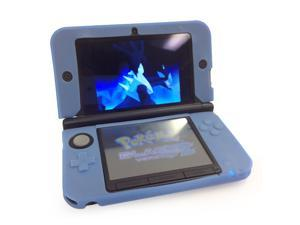 Soft Silicone Rubber Gel Skin Case Cover for Nintendo 3DS XL/LL (Blue)