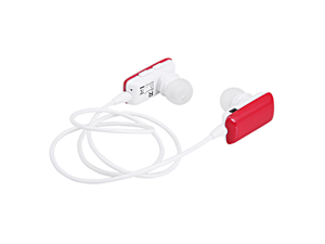 Red Stereo Bluetooth Headphone Earbuds w/ Built-in Microphone