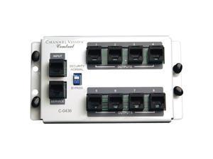 Channel Vision 4x8 RJ45 Telecom Distribution Module with RJ31X (C-0436)