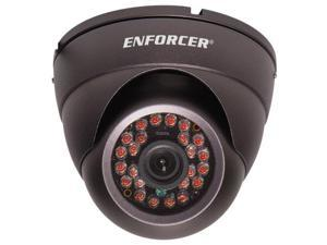 Seco-Larm Enforcer Ball Camera, 420TV, 3.66mm, 24 LEDs, Dark Gray