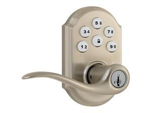 Kwikset SmartCode 912 Traditional Zigbee Leverset with Home Connect, Satin Nickel
