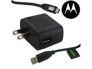 New Original OEM Motorola USB Sync Data Cable + Wall / Home Travel AC Power Charger For Droid Razr Maxx HD, Droid Razr M, ...
