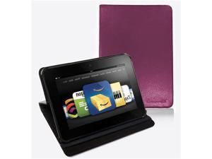 "FORDIGI Standing Leather Case Cover With Auto Wake/Sleep Function For Amazon Kindle Fire HD 7"" - Purple"