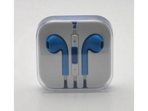 Earbuds EarPods with remote and mic Earphone Headphone for Apple iPhone 5 5G 5th - Blue
