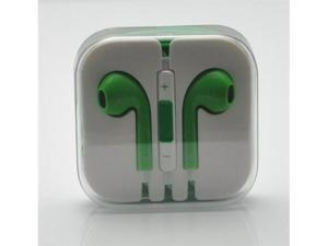 Earbuds EarPods with remote and mic Earphone Headphone for Apple iPhone 5 5G 5th - Green
