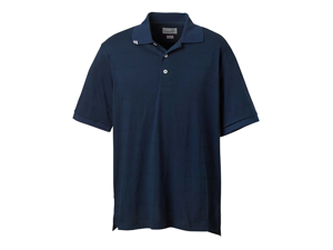 Ashworth Men's EZ-Tech Jersey Textured Stripe Polo Sport Shirt 2013
