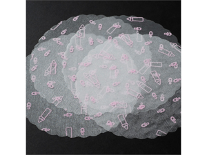 "9"" Organza Circle BabyShower Tulles w/ Waved Edges 25pcs"
