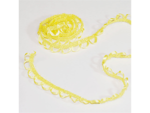 "Beautiful Loop Braid Ribbon Trim 1/2"" 25 Yards Wedding - Color: Yellow"