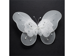 10 Inch Butterflies Party decorations 1 piece - Color: White