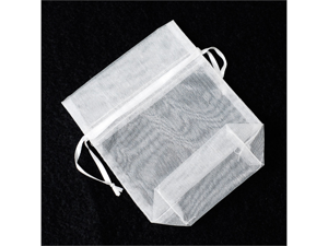 12pcs Organza Organza Favor or Gift Pouches 4 inches x 5 inches - Color: White
