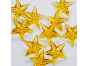 Acrylic Stars 1 1/2 inch Wedding or Party decorations 43 Pieces - Color: Gold