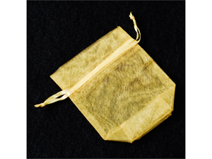 120 pcs Organza Favor Bag or Pouch 3 x 4 inches - Color: Gold