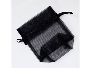 120 pcs Organza Favor Bag or Pouch 3 x 4 inches - Color: Black