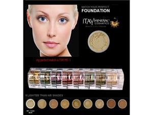 "Itay Beauty Mineral 8 Stacks Eye Shadows ""Nature Beauty'+Travel Size Mineral Foundation MF-1 Cream Marfil"