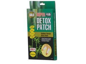 Gold Super Bamboo Vinegar Foot Detox Patches - 8 Pack