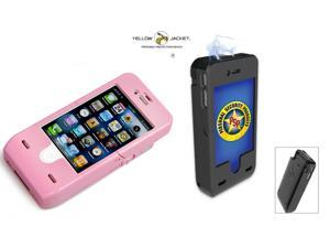 Yellow Jacket Smartphone Stun Case (For iPhone 4)- Pink