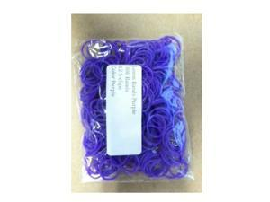 Loom Bands (Purple)- 300 pc w/ 12 S Clips- Compatible with all Bracelet Looms