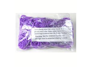 Rainbow Loom 600 Pc Rubber Band Refill w/ 25 C-clips (Purple)