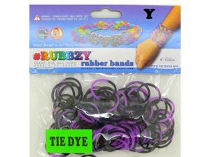 Rubbzy 100 pc Tie Dye Rubber Bands w/ 4 Connectors (#760)